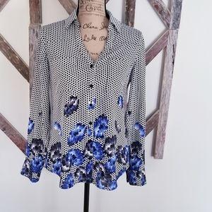 Express Portofino blouse floral size small